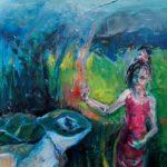 Gudrun Schmiesing: Thaifrau und Schildkroete