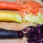 Urtümliche Karotten von den Gemüse Gärtnern
